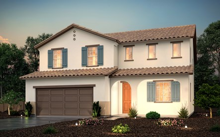 rosewood at terra ranch, crimson - spanish exterior rendering, manteca, ca