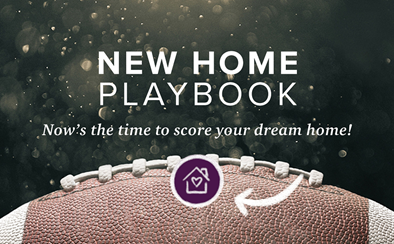 new home playbook graphic with football