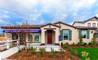 arroyo at loma vista, sienna sales office spanish exterior, clovis, ca