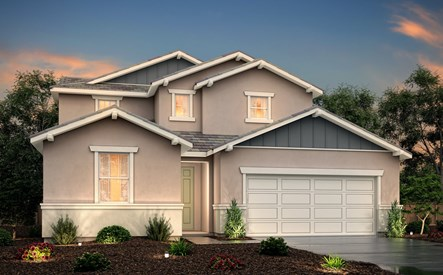 rosewood at terra ranch, saffron elevation b rendering, right swing, manteca, ca